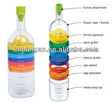 Plastic bin 8 kitchen tool like bottle,kitchen tool KS147 seen on TV