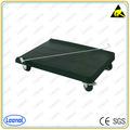 Ln-601 de cuatro ruedas ESD de plástico cesta con alta calidad