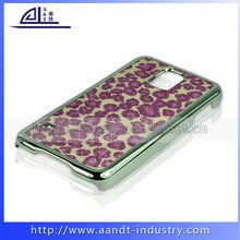 Custom Leopard Skin Phone Cover Metal PC Case For Samsung S5 I9600