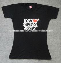 Round Neck Fashion Girls Printed Tshirt