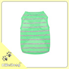 The summer stripe pet T-SHIRT, NEON STRIPE PRINT TANK t-shirt /the wholesale dog clothes&apperal