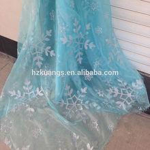 Frozen Princess Elsa printed snowflake organza fabric