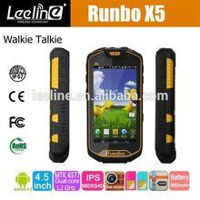 Runbo x5+ IP67 Waterproof Rugged Smartphone with Walkie Talkie haier w910 waterproof nfc android