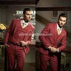 2014 Real Whole Sale Wine Color Tuxedo Suits Wedding Party Dresses For Men
