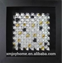 Newest 3d shadow box modern designs home decoration Metal Modern Wall Art