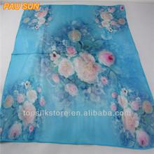 Hangzhou magic silk scarf digital silk printed scarf