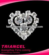 Wholesale High Quality Beautiful Small Heart Cheap Rhinestone Buckle