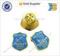 2014 alta qualidade metal ouro emblema da escola logo