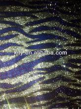 zebra-stripe rhinestone sheet sticker hot sale 2014