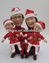resin Christmas family bobble heads home decor