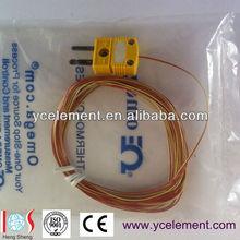 Omega plug thermocouple k type 0.254mm sensor dia