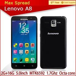 cheapest octa core phone 5.0'' Lenovo a8 mtk6592 13mp smartphone