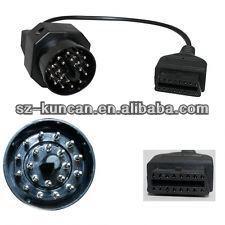 universal scan auto diagnostic cable to DC5.5*2.1/SAE/alligator/rj45/USB connector szkuncan
