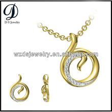 Gold jewlery Diamond Fashion circluar Pendants White Cubic Zirconia for Jewelry Necklace