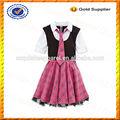 Custom menina crianças uniformes escolares design/uniforme da escola primária por atacado