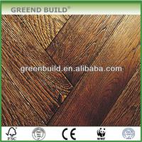 Oak solid wood Brushed Herringbone parquet flooring