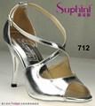 zapatos de las señoras de fantasía sandalia de bajo precio de alta del talón de plata ropa zapatos de fiesta