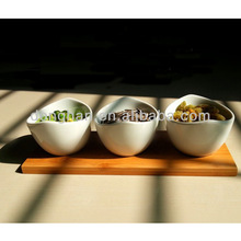 Plain/Ivory White Porcelain candy bowl,ceramic cookies dishes/plates With customized Logo/Artwork/Design Printed