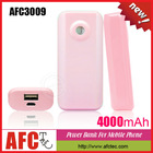 AFC3009 New Products 2014 4000mah Rechargeable Cheap OEM Mobile Portable Power Pack