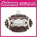 venda quente item esporte futebol americano rhinestone colar pendente acessórios