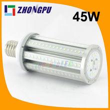 45W E27 E40 E39 Corn LED 360degree 4500lm SAMSUNG 5630/5730 243mm Length 144led White IP65 (Replace 270w Halogen bulb)