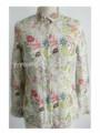 el último estilo de lino impresa florals blusas de moda 2014