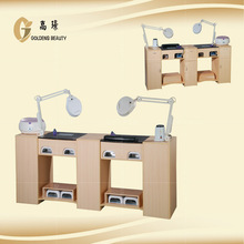 2014 hot sale manicure table nail bar wholesale with vacuum fan