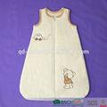 /de algodón de bebé de poliéster de invierno la bolsa de dormir con el patrón de bordado