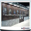 estilo chino de madera maciza clásica ventanas y puertas con vidrio de seguridad