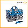 Black & White Zebra with Blue School Cheer Dance duffle bag,travel bag,Striped bag