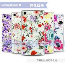 For sony Xperia Z1 Z1 mini Z2 custom flower pattern case cover