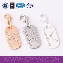 Shiny diamond decorated custom metal accessories for handbags