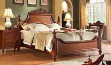 wooden bed with elegant design