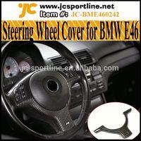 3 Series E46 Steering Wheel Covers Carbon Fiber Interior Trims For BMW E46 M3 ///M