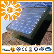 20W Thermostatic Roof Solar Fan, Solar Roof Turbine Ventilator, Solar Powered Ventilation Fan