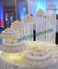 5 tiered acrylic crystal cake stands , decorative cake stands for weddings cakes