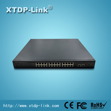 48V poe ip cctv camera with 24 port poe and 2 port 1000M RJ45/SFP for IP phone