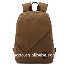 British style fashion canvas backpack hiking backpack laptop