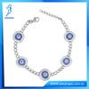 sterling silver dark blue glass tennis evil eye bracelet jewelry