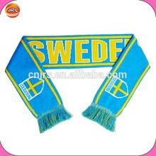 jacquard sweden national team soccer scarf