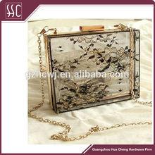 acrylic box frames for eveningbag or patry bag