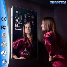 42 inch wall mounting magic mirror decorative with tv wifi hotel bathroom mirror with tv wifi