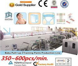 Fully Auto Baby Pull-up Diaper / Training Pants Production Line