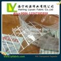 Enduit de pvc tissu transparent pour couvercle de la boîte de chiffre d'affaires