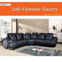 fashionable corner sofa 7449, round sofas,leather sectional sofa