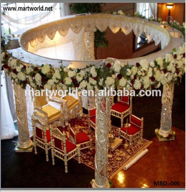 India Luxury Mandap For Wedding Decorations Wedding Crystal Mandap For SaleMBD 005