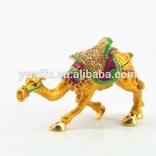 colourful camel jeweled trinket box/plush camel toy/egypt figurine