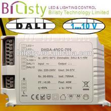 40W dali led driver compatible with dali &0-10v led dimmer