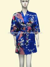2014 Sexy lady's Robes satin kimono robes Bathrobes Satin Robes PC102