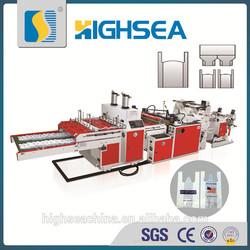 CE SGS High Sea Machinery t shirt vest bag cutting sealing machine for plastic